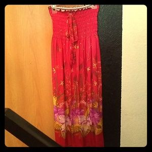 Dresses & Skirts - Hot pink floral skirt